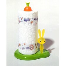 <strong>Alessi</strong> Bunny & Carrot Kitchen Roll Holder by Stefano Giovannoni