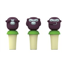 <strong>Alessi</strong> Banana Boys Bottle Stoppers by Stefano Giovannoni