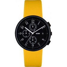 Record Yellow Chronograph Watch