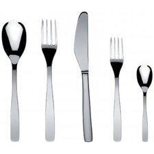 <strong>Alessi</strong> Knifeforkspoon 5 Piece Flatware Set