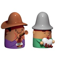 2 Piece Zampognaro and Pifferaio Figurine Set