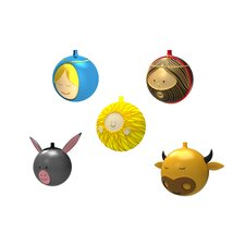 <strong>Alessi</strong> 5 Piece Holiday Ornament Set