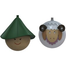 2 Piece Le Palle Presepe Sculpture