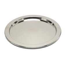 Ettore Sottsass Round Tray with Graphic Engraving