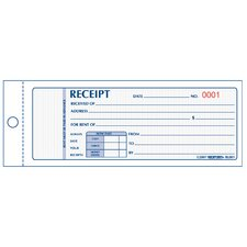 "3"" x 7"" Two Part Rent Receipt Book"