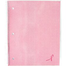 "80 Sheet 11"" x 8-7/8"" Pink Notebook"