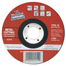 "4-1/2"" X 3/32"" Type 1 Metal Cutting Wheel 17367"