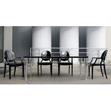 <strong>Kartell</strong> 5 Piece Top Table and Ghost Chair Dining Set