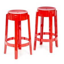 "Charles Ghost 26"" Barstool (Set of 2)"