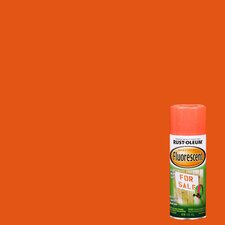 11 Oz Fluorescent Red-Orange Spray Paint
