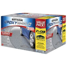 2.5 Car Garage Gray Floor Coating Kit High Gloss