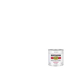<strong>RustoleumStopsRust</strong> 1/2 Pint Flat White Protective Enamel Oil Base Paint 7790 730