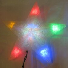 LED Frosted 5 Point Star Tree Topper