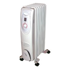 1,500 Watt Radiant Radiator Electric Space Heater with Adjustable Thermostat