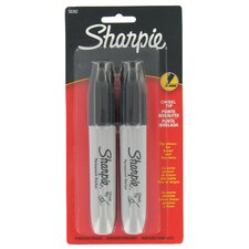 Black Chisel Tip Permanent Marker (2 Pack) (Set of 6)