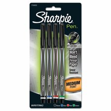 <strong>Sharpie</strong> Plastic Point Stick Permanent Water Resistant Pen (4 Pack)