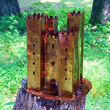 Castle Sculpture Decorative Bird Feeder