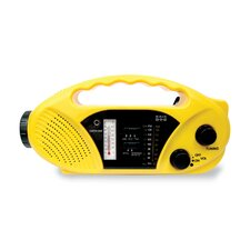 Compact Crank / Solar Battery / Radio / Flashlight