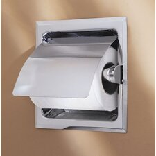 Recess Toilet Paper Holder with Cover in Chrome