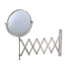 Accordion Wall Mirror in Satin Nickel