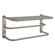 Three Tier Towel Rack in Satin Nickel