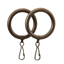 Marina Shower Curtain Rings in Oil Rubbed Bronze (Set of 2)