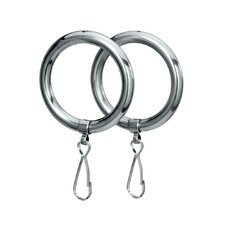 Shower Curtain Rings in Chrome (Set of 2)