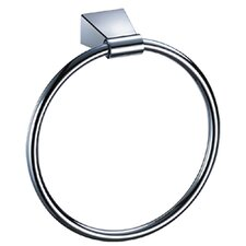 Bleu Towel Ring in Chrome
