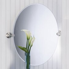 <strong>Gatco</strong> Laurel Avenue Oval Mirror in Polished Nickel