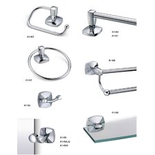 Jewel Bathroom Nine Piece Accessories Set
