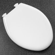 Solid Plastic Elongated Toilet Seat