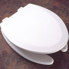 <strong>Bemis</strong> Molded Wood Decorator Commercial Open Front Elongated Toilet Seat