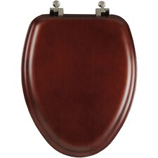 Natural Reflections Wood Decorator Closed Front Elongated Toilet Seat