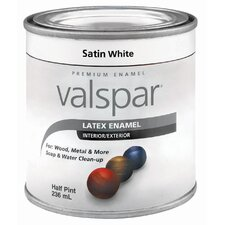 Half Pint Satin White Latex Enamel 410-65001 HP