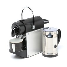 <strong>Nespresso</strong> Pixie Espresso Maker with Aeroccino Plus Milk Frother Bundle