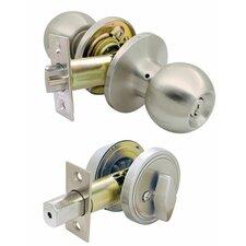 "12"" Single Cylinder Deadbolt and Entry Combo Lock Set"