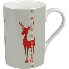 Winter Splendor 10 oz. Reindeer Mug (Set of 4)