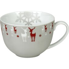 Winter Splendor 22 oz. Reindeer Café au Lait Cup (Set of 2)