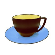 Duo 7 oz. Coffee Cups and Saucer (Set of 4)