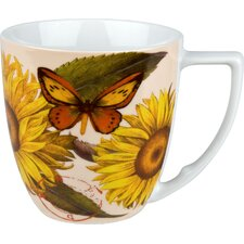 Accents Nature 12 oz. Sunflower Mug (Set of 4)