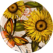 "Accents Nature 8"" Sunflower Plate (Set of 4)"