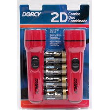 2 Pack Combination 2D Cell Flashlights 41-2094
