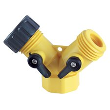 "0.75"" Y Hose Connector with Shutoff Lever"