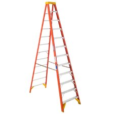 "<strong>Werner</strong> 144"" Load Bearing Fiberglass Step Ladder"
