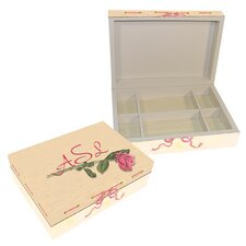 Journal Rose Large Hinge Box