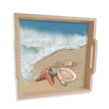 "Ocean Shells 16"" Square Serving Tray"