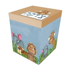 Zoo Animals Personalized Tzedaka Box