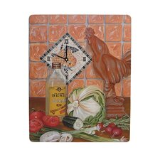 Home and Garden Roosters Wall Clock