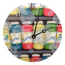 "Home and Garden 18"" Bubbles Wall Clock"