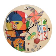 "Children and Baby 10"" Toys Wall Clock"